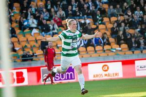 Douglas Karlberg blev bästa målskytt i VSK förra säsongen med tolv mål. Den här säsongen har han fått betydligt mindre speltid