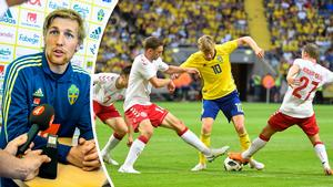 Landskampen var händelsefattig – men Emil Forsberg skapade bra lägen i sin nya roll. Bild: Maja Suslin/TT