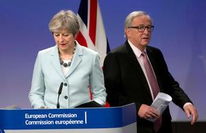 Den brittiska premiärministern Theresa May mötte den 8 december kommissionsordföranden Jean-Claude Juncker i Bryssel. Foto: Virginia Mayo