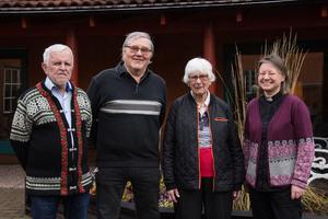 Evert Hellman, Harry Nygårds, Barbro Häll och Zilgme Eglite.