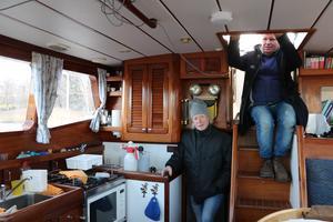 Pelle Pia och Per Erici förbereder inför resan.