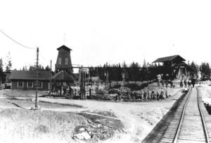 Arbetare vid Kallmorberget i Norberg. Bilden är från Norbergs hembygdsförening.