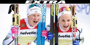 Maja Dahlqvist och Stina Nilsson vann under söndagen VM-guld i sprintstafett.