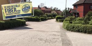 På Jakobsdal grävdes det på fel sida av gatan. Bilden visar inte nödvändigtvis ett område där det grävts fel.