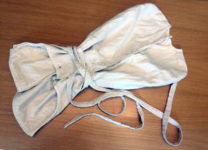 Tvångströjan i barnmodell är en rest från Bodaborgs sinnesslöanstalt.