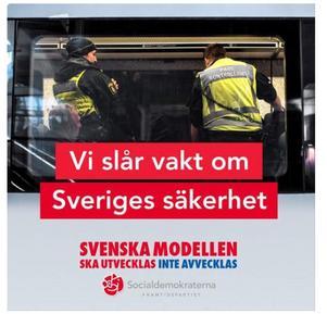Socialdemokraternas annonskampanj från i höstas.