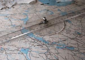 Högst uppe i Luråstornet finns en karta över trakten.