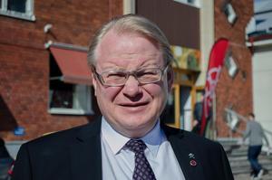 Försvarsminister Peter Hultqvist närvarade vid kongressen i Forum Kvarnsveden i Borlänge.