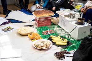 Det bjöds även på diverse olika snacks. Bland annat eritreanskt kaffe.