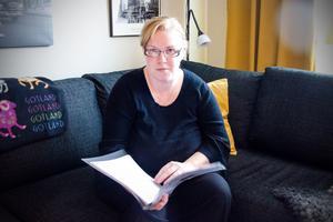 Elin Vesterlund styrelsemedlem i FUB:s Inre Ringen i Sundsvall kämpar för att personer som har daglig verksmhet ska få ta del av statens pengar.