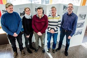 Anders Calissendorff, Stina Feil, Claes Rogander, Mats Lögdahl och Stefan Näslund presenterar nya Storbron.