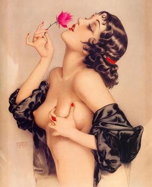 Alberto Vargas porträtt av modellen och filmstjärnan Olive Thomas från 1920.