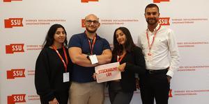 Sara Albeer, Jakob Samoiel, Serli Khatchadourian och Sarkis Khatchadourian från SSU Södertälje var på plats på SSU:s förbundskongress.