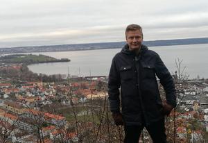 Max Eskilsson vid Utsikten, Huskvarna. Foto: Privat