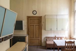 Lärarinnebostaden hade ett kök.Foto: Utsikten Foto/Svensk Fastighetsförmedling