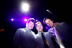 Joel Landéns Trio var ett av två band som direktkvalificerade sig till länsfinalen 20 april. Anders Engström, Karl Tirén och Joel Landin var glada över segern.