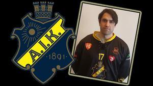 Västanforsanfallaren Klas Nordström presenterades som klar för AIK på onsdagen.Bild: AIK Bandy