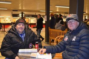 Stefan Olsson och Pär Eklund hade åkt från Älvdalen till Borlänge för att gå på trav.