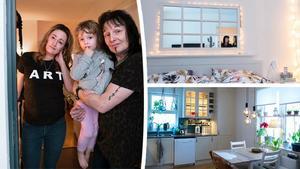 Sandra, Mats och Charlie bor i en trea i Mårtensro i Sundsvall.