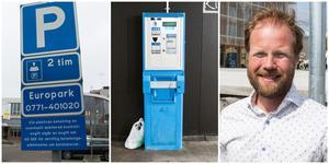 Det var inte meningen att p-reglerna skulle ändras, enligt Johan Arvidsson. På sikt kan det ändå bli nya regler när en p-automat kommer på plats vid stora parkeringen i Nykvarns centrum.