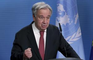 """Enligt FN-chefen António Guterres är FN:s avtal för ett kärnvapenförbud """"en viktig komponent inom nedrustnings- och ickespridningsregimen"""".  Men tyvärr har Sverige ännu inte anslutit sig till avtalet, skriver Annelie Börjesson och Bosse Bergqvist. Foto: Michael Sohn, TT."""