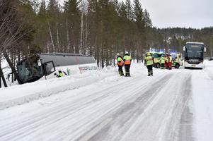 Ett stort räddningspådrag drogs vid olyckan.