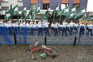 NMR:s manifestation i Ludvika samlade färre deltagare än tidigare år på 1 maj i Dalarna.