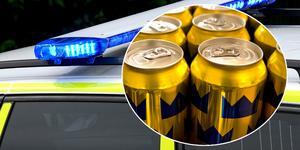 En man rånades på öl och en klocka.
