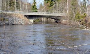 Höga vattenmängder i Sättnaån.