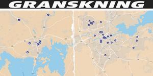 Längre ned i artikeln finns en klickbar karta över alla anmälda rån mot barn.