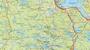 Parkerna ligger på gränsen mellan Hälsingland och Gästrikland.