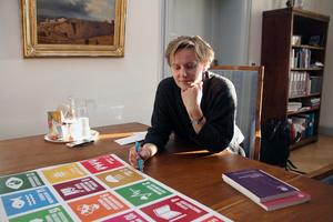 FN:s hållbarhetsmål utmanar nya kommunalrådet Jessica Wide (S).