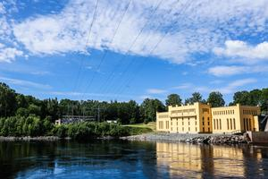 Bullerforsens gamla kraftverk i Borlänge.