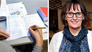 Anneli Vossman, rektor på Freinetskolan Mimer i Norrtälje. Foto: Måna J Roos/TT