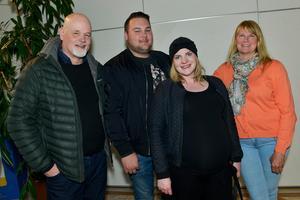 Bengt Eriksson, Adrian Reiman, Helene Nordin, Jeanette Reiman såg fram mot en kul kväll.