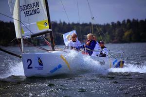 Det blir segling av bästa sort när allsvenskan intar Örnsköldsviks inre hamn nästa sommar. ÖSS, Örnsköldsviks seglingssällskap, ska arrangera en av fyra deltävlingar. Bild: Privat.