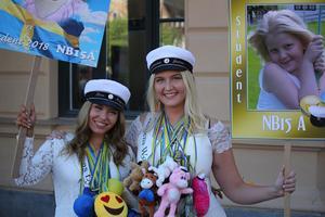 Stina Magneland och Johanna Jodaa, från Realgymnasiet