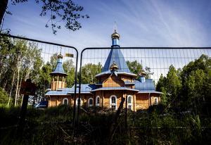 Rysk-ortodoxa kyrkan när den var under uppbyggnad.