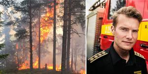 Skogsbrand i Leksand 2018 och Johan Szymanski.