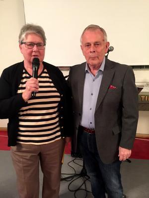 Två ordföranden Lisa Karlsson PRO Sollefteå-Ed och Johnny Löfstrand PRO ÅngermanlandFotograf: Styrelsen