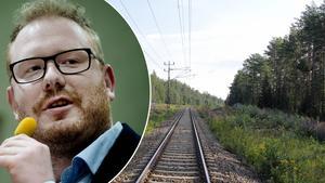 Nästa Tallnäs. Det vill Robert Thunfors (T) kunna höra i framtiden när han åker Norrtåg genom Timrå.