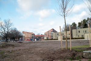 När lägenheterna som redan finns är färdigsålda kommer sex nya trekantiga hus att byggas strax intill.