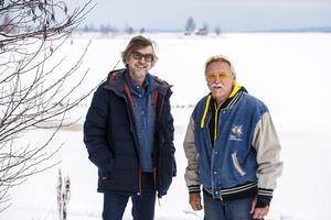 Göran Lindström (till höger) är i Sverige för att fira jul med familjen.