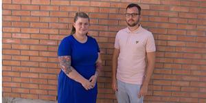 Sofie Erlandsson på barn-och familjeenheten och Jimmy Stenberg, enhetschef på öppenvården.