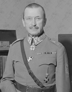 Marskalk Carl Gustaf Mannerheim 1945. Foto: Okänd