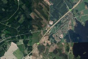 Kvinnan och sonen försvann i området kring Tallbacken i Ornäs. Bild: Google Maps