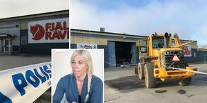 Fjällräven outlet/Naturkompaniet i Själevad utsattes för ett inbrott under natten till måndagen. Okända tjuvar tog sig in i butiken genom att köra en traktor genom entrén.