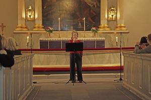 Sofia Persson sjöng himlen i min famn.