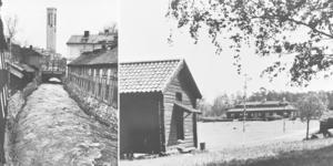 Gunhilds bilder blev till vykort. Till vänster från centrala Västerås och till höger är det Vallby friluftsmuseum.