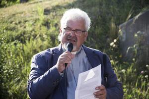 Prästen Per-Arne Bengtsson i Västanfors Västervåla församling. Under minnesstunden för Nella Olander, 2019.